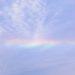 今朝の生駒の虹色の空